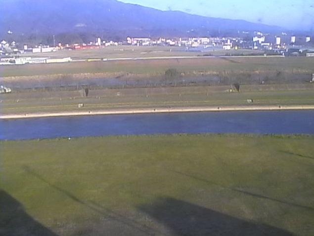 直方市観測地点Bから遠賀川