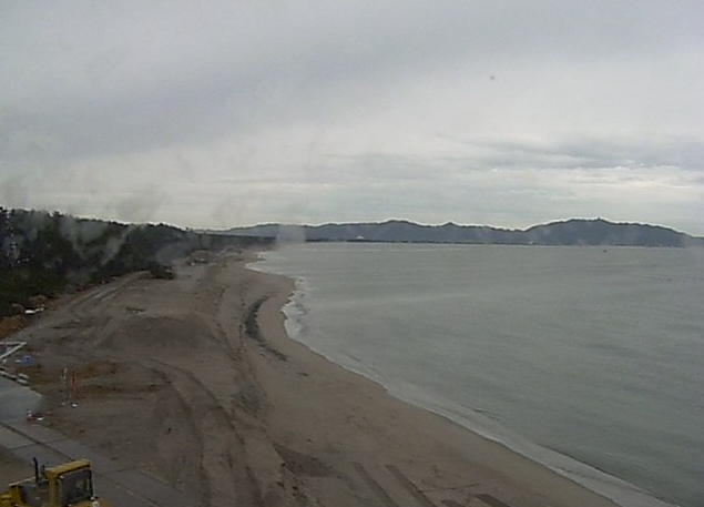 富益海象観測所から皆生海岸
