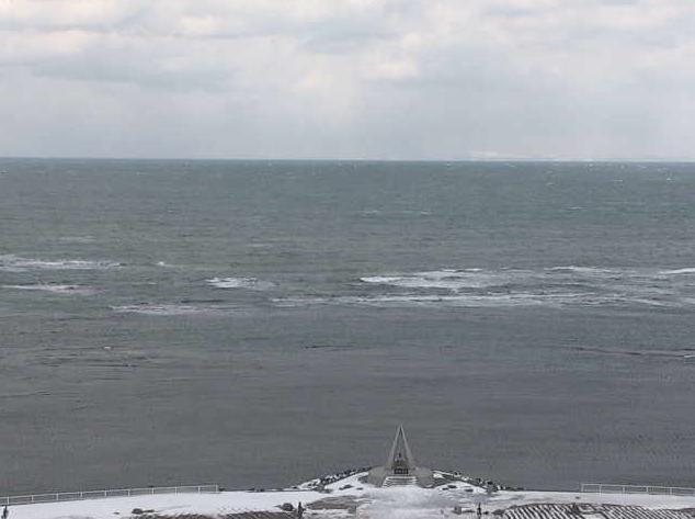 宗谷岬灯台からオホーツク海・宗谷海峡・流氷