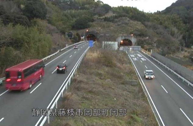 岡部トンネル西から国道1号(藤枝バイパス)