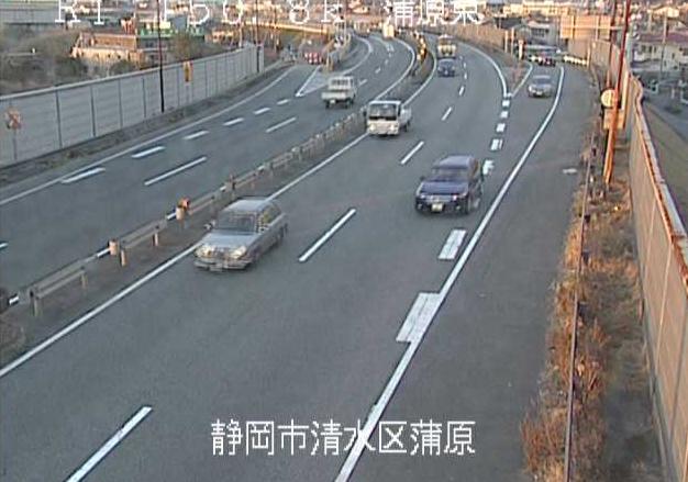蒲原東から国道1号(富士由比バイパス)