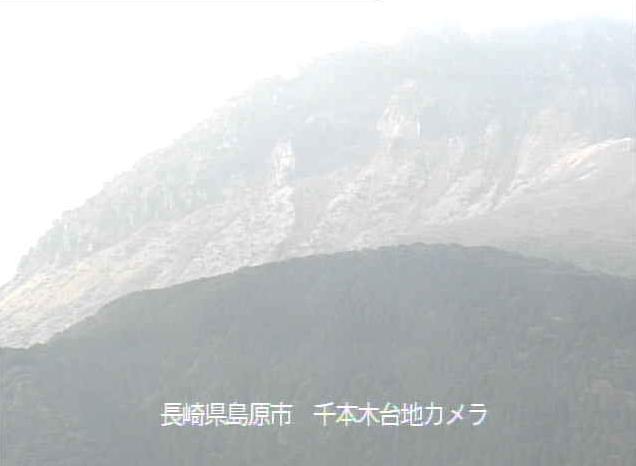 千本木台地から雲仙普賢岳