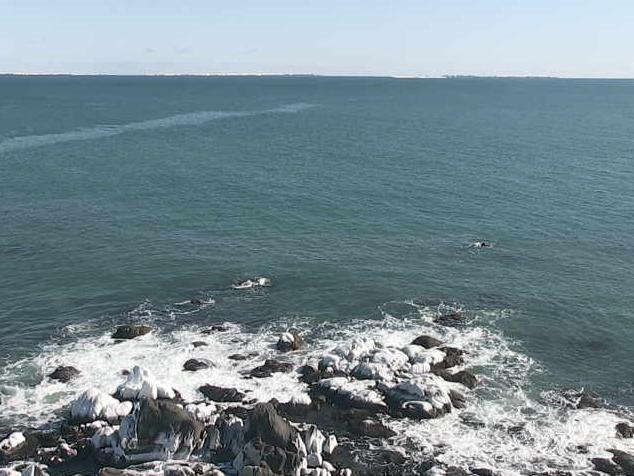 納沙布岬灯台から歯舞群島(歯舞諸島)