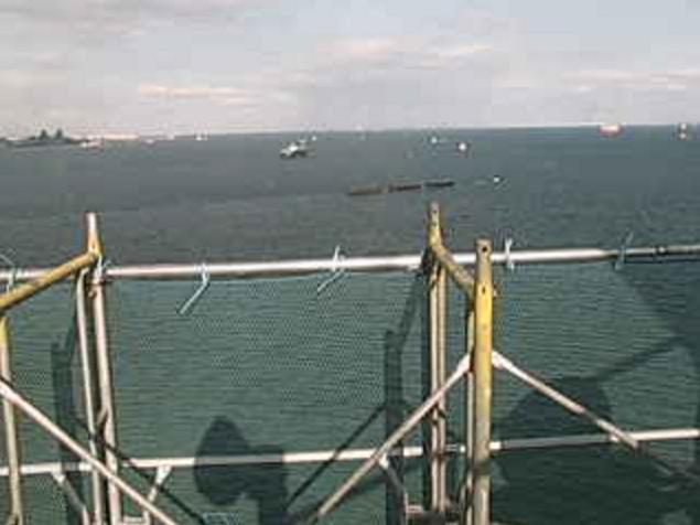 本牧船舶通航信号所から東京湾・横浜ベイブリッジ・横浜港