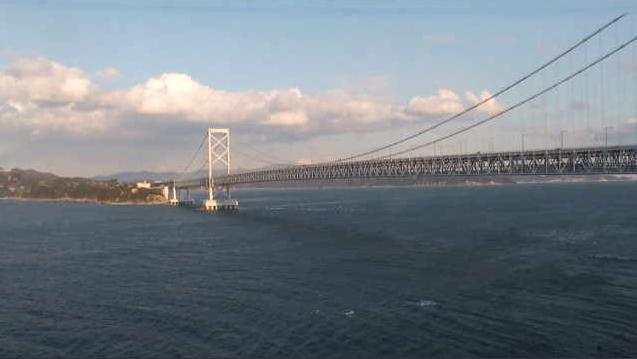 孫埼灯台から神戸淡路鳴門自動車道・大鳴門橋