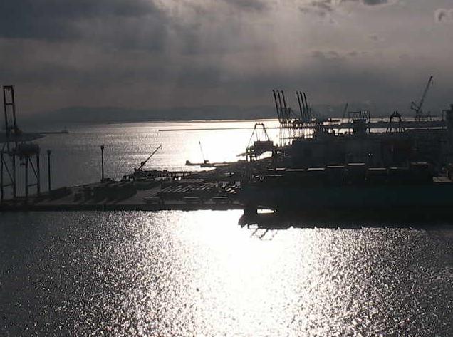 名古屋港海上交通センターから名古屋港・94号岸壁・コンテナふ頭・ポートアイランド・金城交差部・金城水域