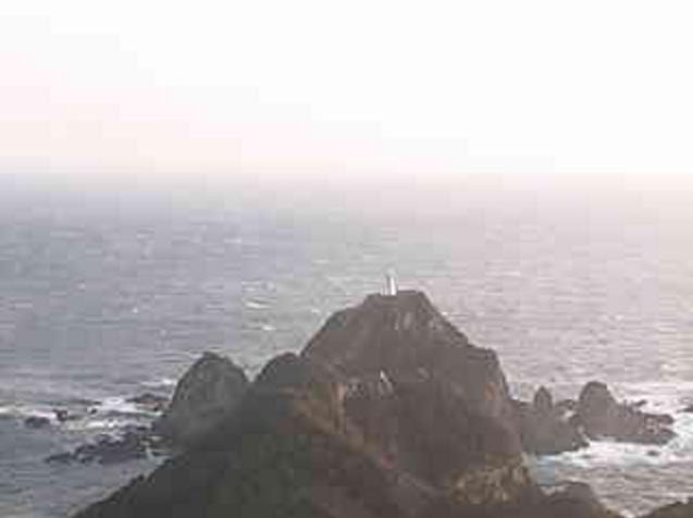佐多岬灯台から佐多岬・大隈海峡・ピロウ島