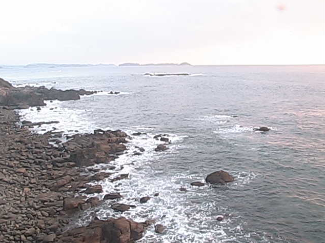 小平瀬鼻灯台から黒之瀬戸大橋・多々羅島・天草灘