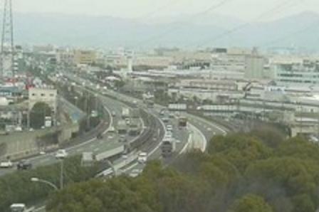 京都府立洛西浄化センター公園(アクアパルコ洛西)から名神高速道路