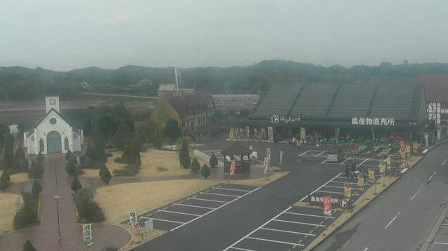 道の駅ローズマリー公園から農産物直売所はなまる市場・道の駅駐車場