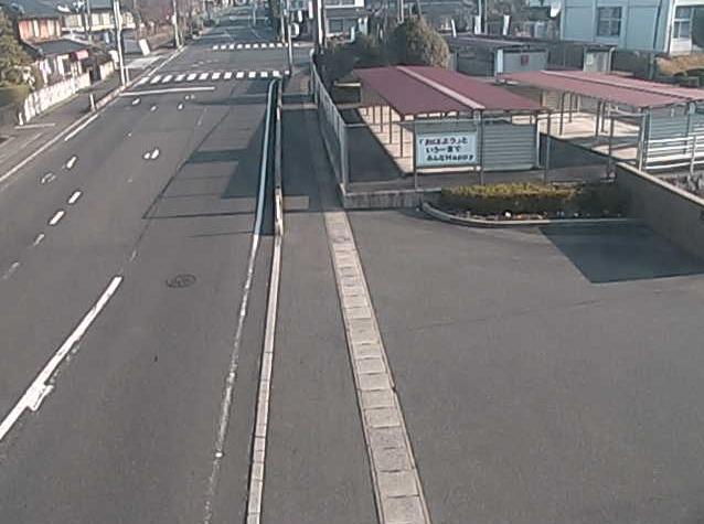 奈義中学校正門前から岡山県道353号石生奈義線