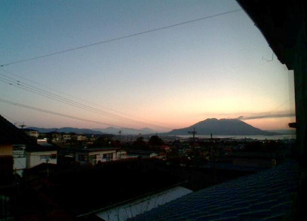 錦江台から桜島
