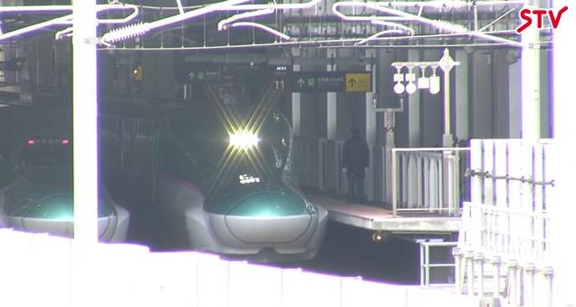 新函館北斗駅から北海道新幹線H5系はやぶさ