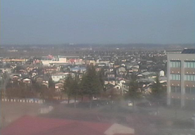 石川工業高等専門学校(石川高専)から石川高専キャンパス・津幡町上空