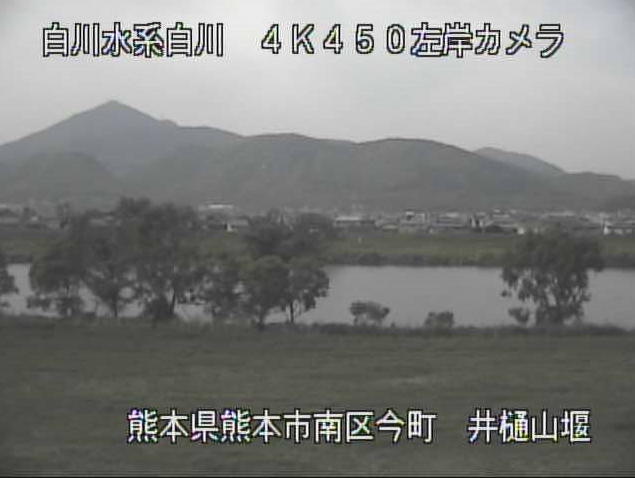 井樋山堰から白川・金峰山・三淵山