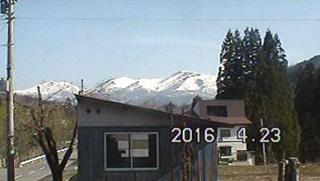 大井沢桧原から月山方向・山形県道27号大江西川線