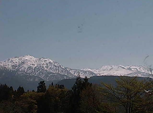立山芦峅ふるさと交流館から大日岳・雄山・富士の折笠・大汝山・浄土山