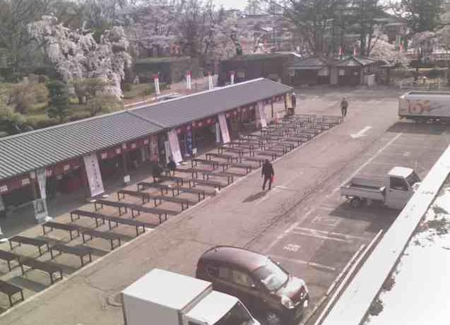 上田城真田茶屋(旧上田市民会館駐車場)から駐車場・千本桜