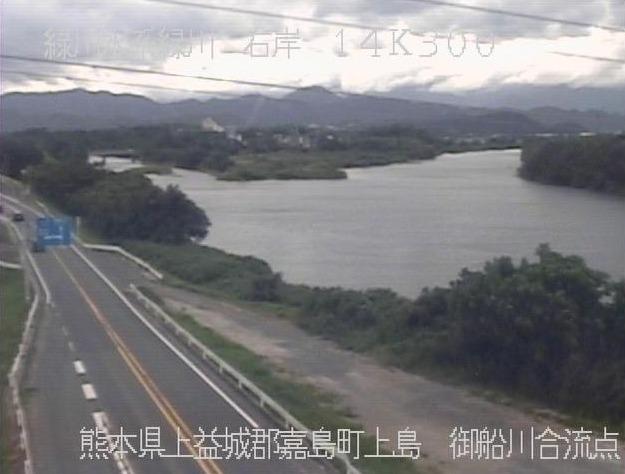 緑川御船川合流点ライブカメラ(熊本県嘉島町上島)