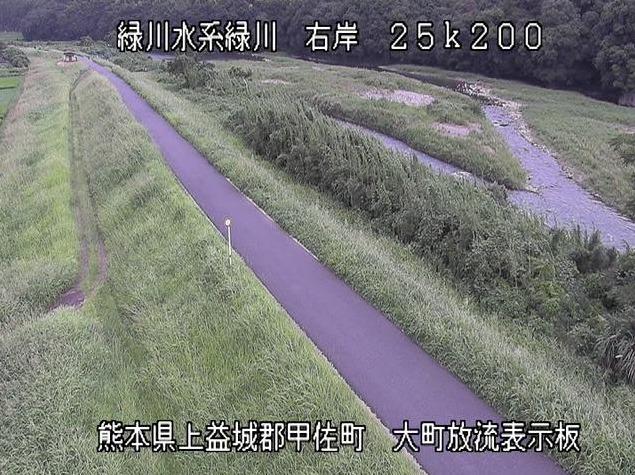 緑川大町ライブカメラ(熊本県甲佐町大町)