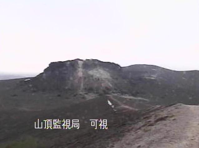 樽前山山頂監視局から樽前山