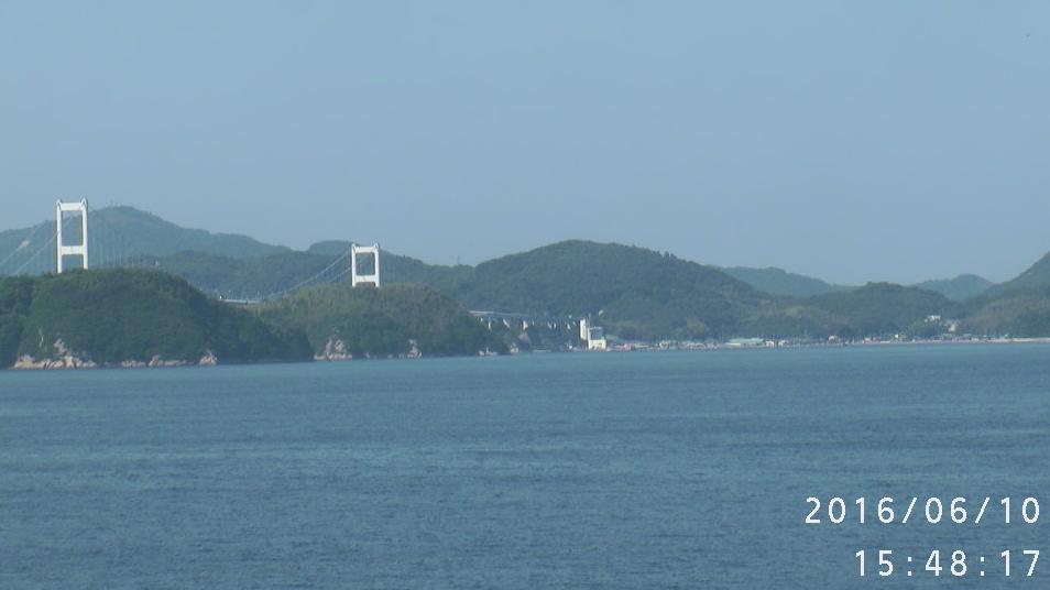 来島海峡・いきいき館・馬島・武志島・観光船発着場・小島・亀老山が見えるライブカメラ。