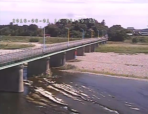 箒橋付近から箒川・箒橋・国道294号が見えるライブカメラ。