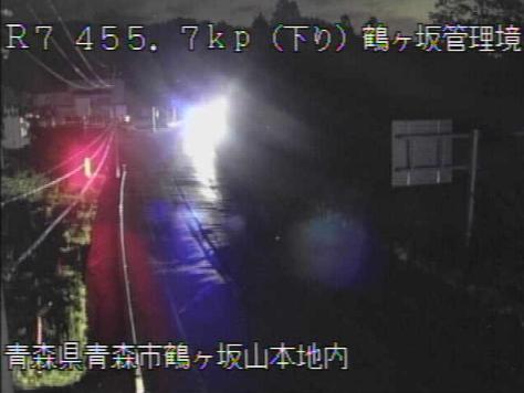 鶴ヶ坂管理境から国道7号が見えるライブカメラ。