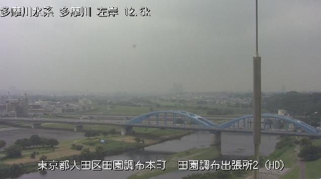 多摩川田園調布出張所ライブカメラは、東京都大田区田園調布の京浜河川事務所田園調布出張所に設置された多摩川が見えるライブカメラです。