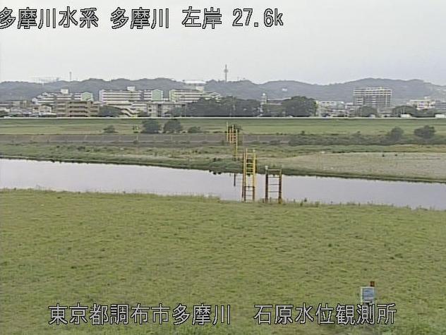 多摩川石原水位観測所ライブカメラは、東京都調布市多摩川の石原水位観測所に設置された多摩川が見えるライブカメラです。