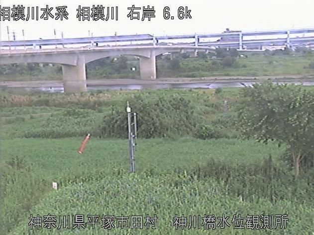 相模川神川橋水位観測所ライブカメラは、神奈川県平塚市田村の神川橋水位観測所に設置された相模川が見えるライブカメラです。