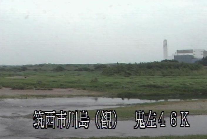茨城県筑西市下川島の川島水位観測所に設置された鬼怒川が見えるライブカメラです。