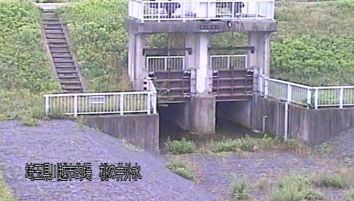 埼玉県川越市的場の初雁橋に設置された入間川が見えるライブカメラです