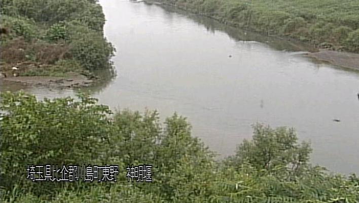 市野川神明堰ライブカメラは、埼玉県川島町東野の神明堰に設置された市野川が見えるライブカメラです。