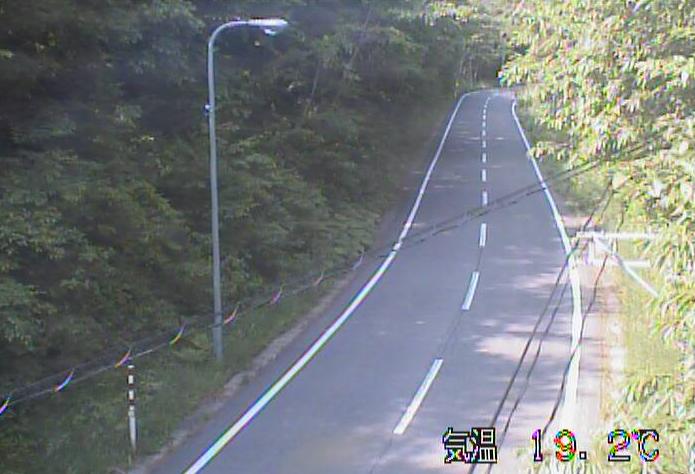 卯坂峠から岩手県道29号野田山形線が見えるライブカメラ。