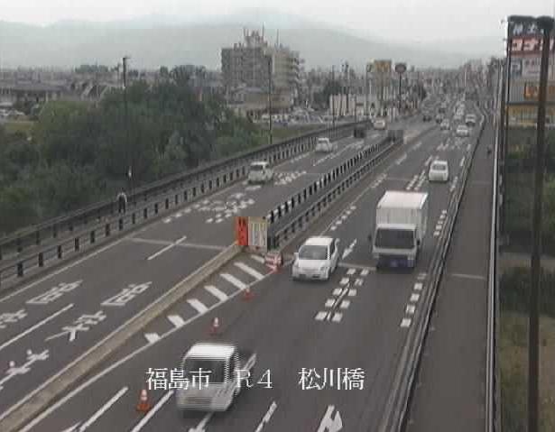 松川橋右岸から国道4号が見えるライブカメラ。