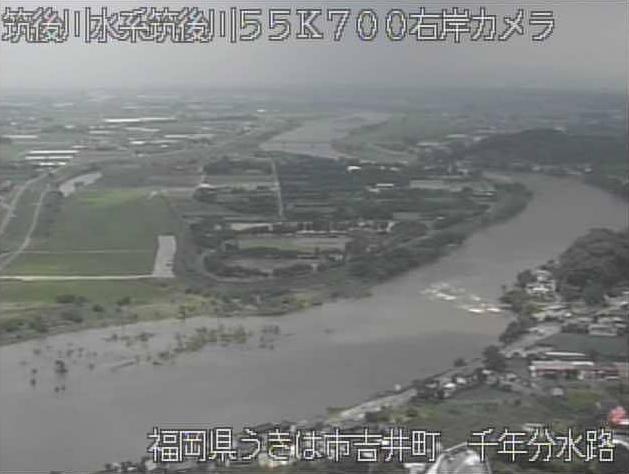 筑後川千年分水路ライブカメラは、福岡県うきは市吉井町の千年分水路に設置された矢部川が見えるライブカメラです。