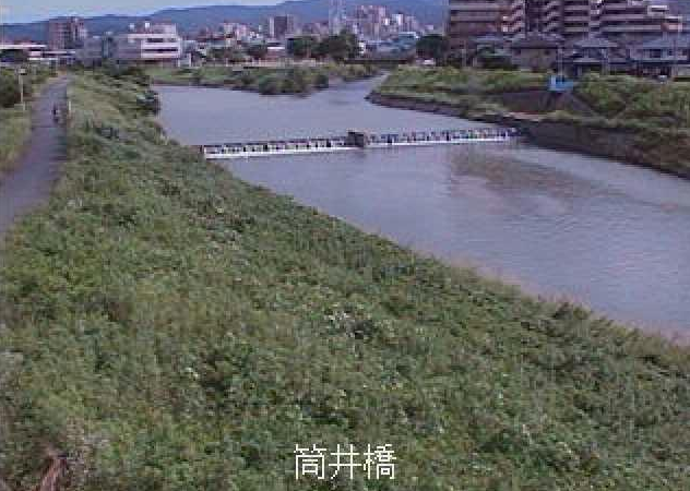 御笠川筒井橋ライブカメラは、福岡県大野城市筒井の筒井橋に設置された御笠川が見えるライブカメラです。