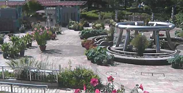 水生植物公園みずの森玄関ライブカメラは、滋賀県草津市下物町の草津市立水生植物公園みずの森に設置されたコミュニティ広場・正面ゲート・噴水が見えるライブカメラです。