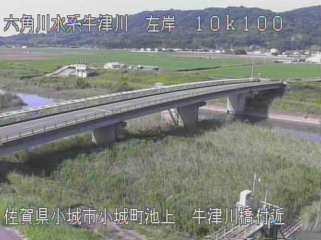 牛津川山崎ライブカメラは、佐賀県小城市小城町の山崎(牛津川橋付近)に設置された牛津川が見えるライブカメラです。