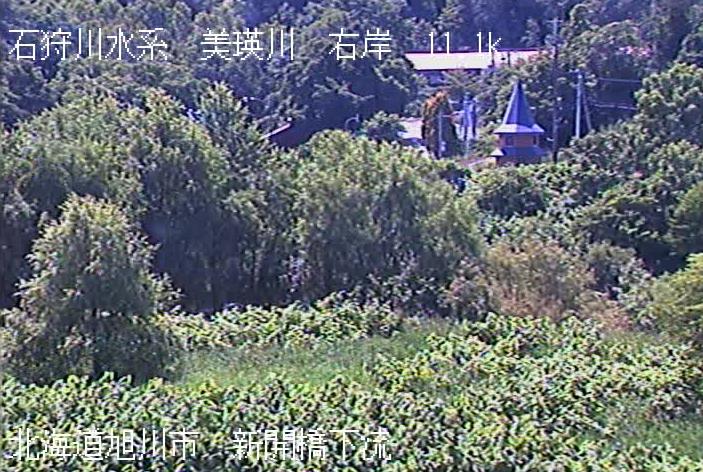 美瑛川西神楽観測所ライブカメラは、北海道旭川市西神楽の西神楽観測所に設置された美瑛川が見えるライブカメラです。