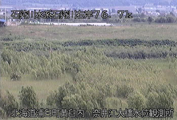 石狩川奈井江大橋水位観測所ライブカメラは、北海道浦臼町黄臼内の奈井江大橋水位観測所に設置された石狩川が見えるライブカメラです。
