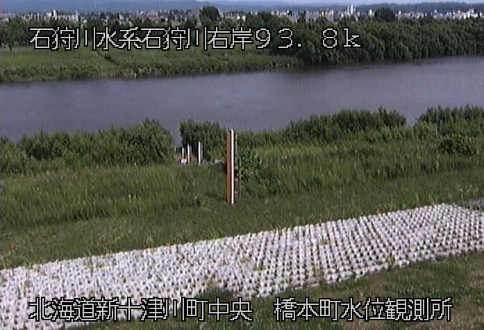 石狩川橋本町水位観測所ライブカメラは、北海道新十津川町中央の橋本町水位観測所に設置された石狩川が見えるライブカメラです。