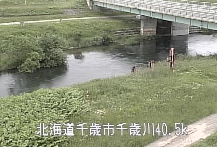 千歳川西越水位観測所ライブカメラは、北海道千歳市幸福の西越水位観測所に設置された千歳川が見えるライブカメラです。