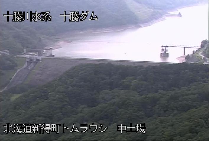 十勝ダムライブカメラは、北海道新得町トムラウシの十勝ダムに設置された中土場が見えるライブカメラです。