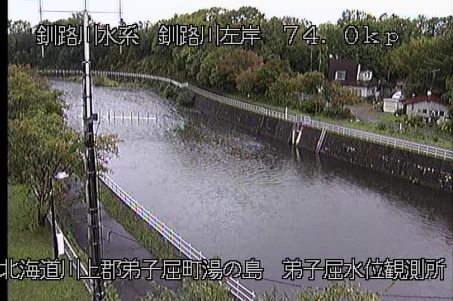 釧路川弟子屈水位観測所ライブカメラ(北海道弟子屈町湯の島)