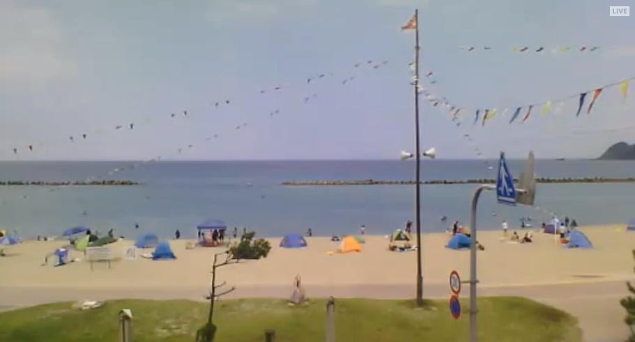 竹野浜海水浴場ライブカメラ(兵庫県豊岡市竹野町竹野)