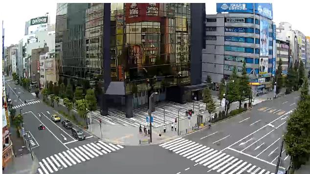 秋葉原中央通り交差点ライブカメラは、東京都千代田区外神田の秋葉原中央通り交差点に設置された秋葉原中央通り交差点・東京都道437号秋葉原雑司ヶ谷線が見えるライブカメラです。