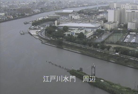 江戸川水門ライブカメラは、東京都江戸川区東篠崎町の江戸川水門(篠崎水門)に設置された江戸川が見えるライブカメラです。