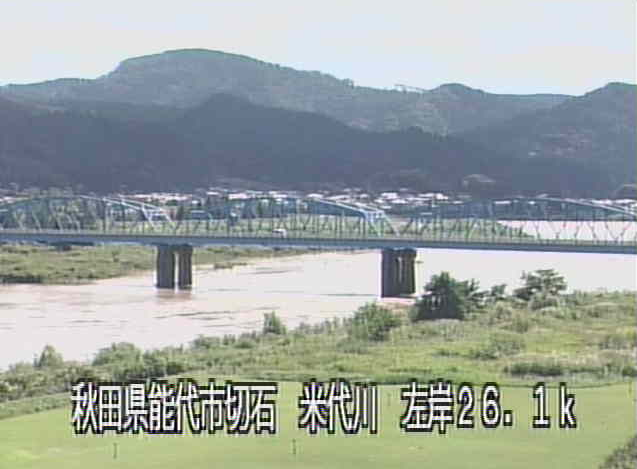 米代川米白橋ライブカメラは、秋田県能代市二ツ井町の米白橋に設置された米代川が見えるライブカメラです。